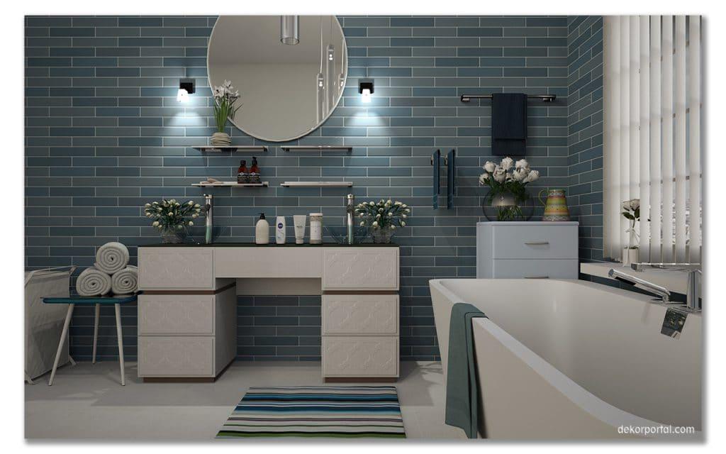 banyo dekorasyonu mobilya