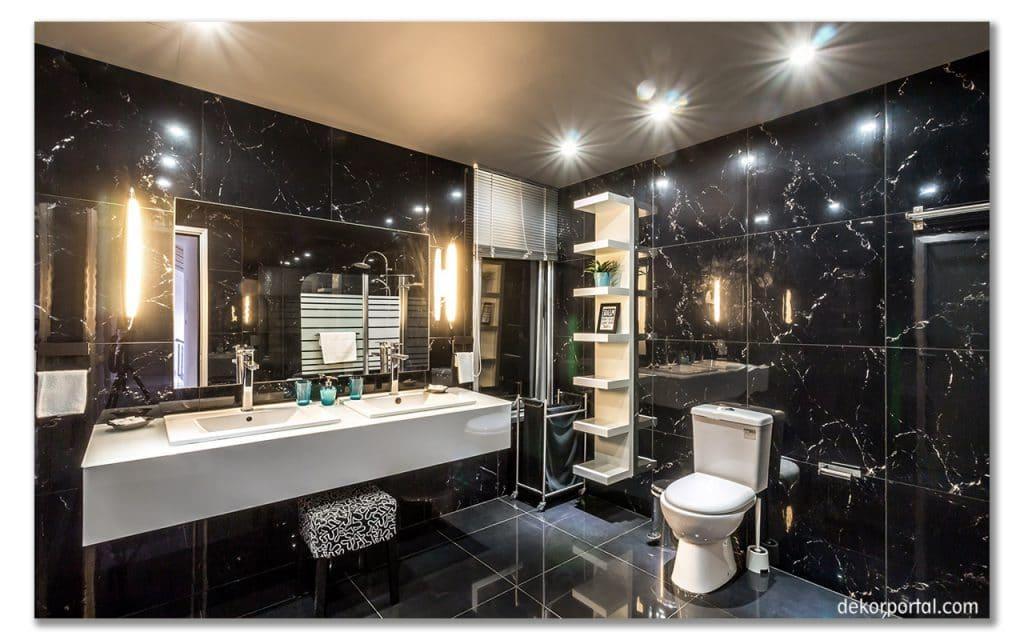 banyo dekorasyonu siyah